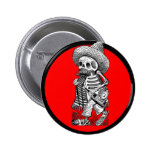 Day of the Dead motif 5 2 Inch Round Button