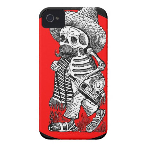 Day of the Dead motif 5 iPhone 4 Case-Mate Cases
