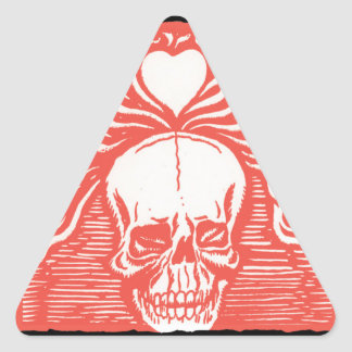 Day of the Dead motif 7 Triangle Sticker