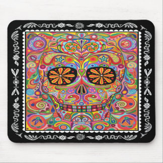 Day of the Dead Mousepad Sugar Skull Art