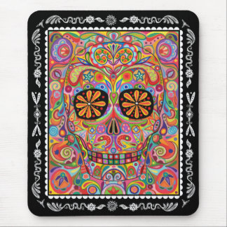 Day of the Dead Mousepad Sugar Skull Art