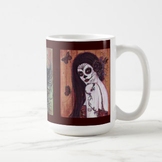 Day of the dead mug by Renee L. Lavoie