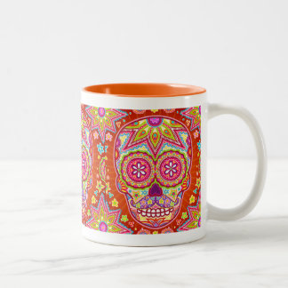 Day of the Dead Mug - Sugar Skull with Mustache