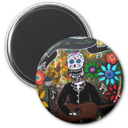 DAY OF THE DEAD  MUSICIAN MAGNET