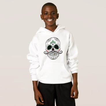 Halloween Themed Day of the Dead Mustache Hoodie