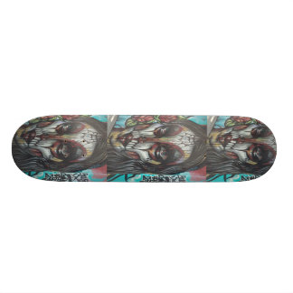Day of the Dead My Cray Skateboard by WABStreetArt