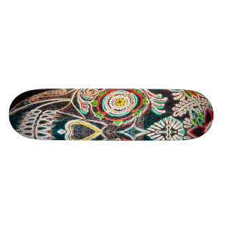 Day of the Dead Neon Glow Skateboard