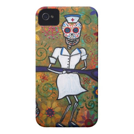 DAY OF THE DEAD NURSE iPhone 4 COVER
