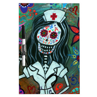 Day of the dead nurse painting Dry-Erase board