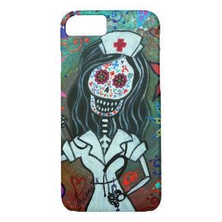 Day of the dead nurse painting iPhone 7 case