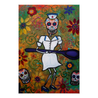 DAY OF THE DEAD NURSE POSTERS