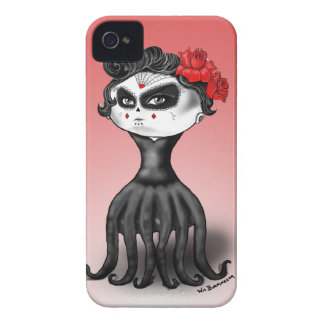 Day of the Dead Octopus iPhone 4 Case