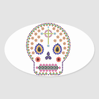 Day of the Dead Oval Sticker