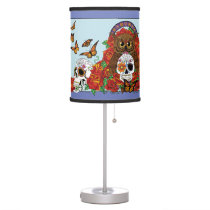 Day of the Dead Owl Table Lamp