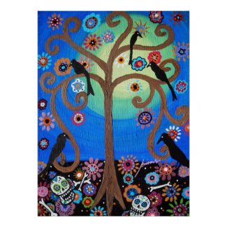 DAY OF THE DEAD PAINTING POSTERS print