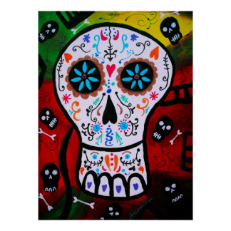 DAY OF THE DEAD PAINTING POSTERS