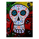 DAY OF THE DEAD PAINTING POSTERS POSTER