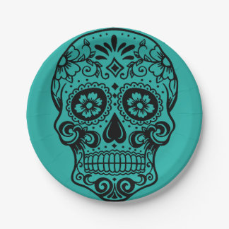 Day of the Dead Paper Plates 7 Inch Paper Plate
