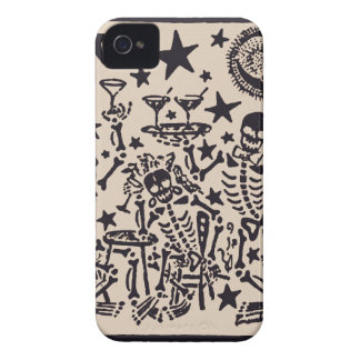 Day of the Dead Party/ Dia Muertos Fiesta iPhone 4 Case-Mate Case