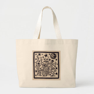 Day of the Dead Party/ Dia Muertos Fiesta Large Tote Bag