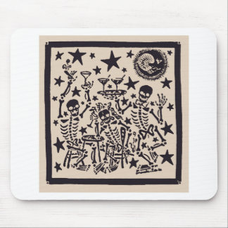 Day of the Dead Party/ Dia Muertos Fiesta Mouse Pad