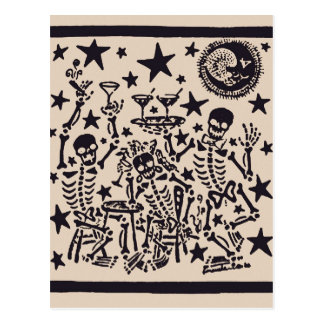 Day of the Dead Party/ Dia Muertos Fiesta Postcard
