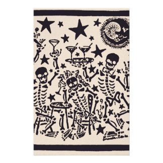 Day of the Dead Party/ Dia Muertos Fiesta Stationery