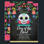 """Day of the Dead Party Invitation<br><div class=""""desc"""">Customize this Dia de los muertos Invitation with your own details. Visit my shop for matching items! Graphics by lagartixashop.com</div>"""