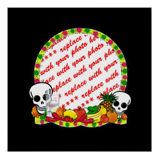 Day of the Dead Photo Frame Poster