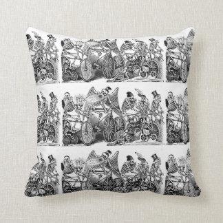 Day of the Dead Pillow - Calavera las biciletas