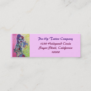Pin up girl business cards templates zazzle day of the dead pin up girl mini business card colourmoves