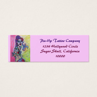 Day Of The Dead Pin Up Girl Mini Business Card
