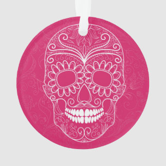Day of the Dead Pink Skull