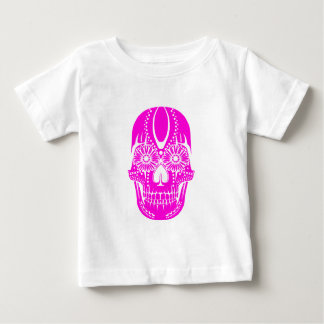 Day of the Dead Pink Skull Baby T-Shirt