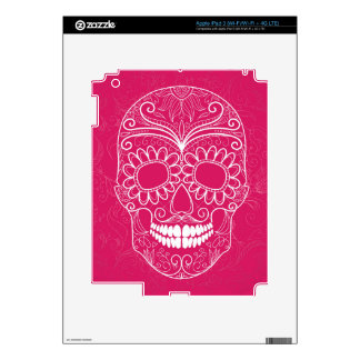 Day of the Dead Pink Skull iPad 3 Skin