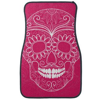 Day of the Dead Pink Skull Floor Mat