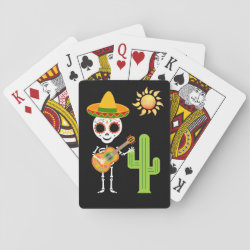 Funny Halloween Mickey Mouse as Stitch Playing Cards (Poker)
