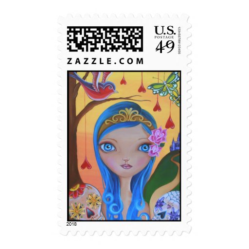"""""""Day of the Dead Princess"""" Stamps"""