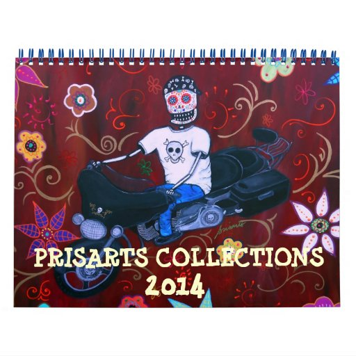 DAY OF THE DEAD PRISARTS COLLECTION 2014 CALENDAR