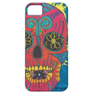Day of The Dead Rainbow Skull Daisy Tribal Tattoo iPhone SE/5/5s Case