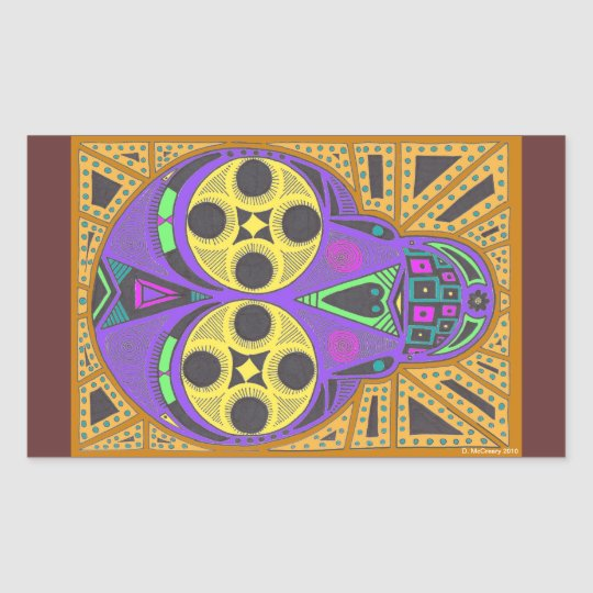 Day of the Dead rectangle sticker