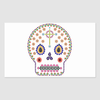 Day of the Dead Rectangular Sticker