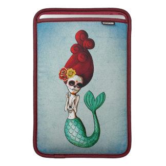 Day of The Dead Red Hair Mermaid MacBook Air Sleeves
