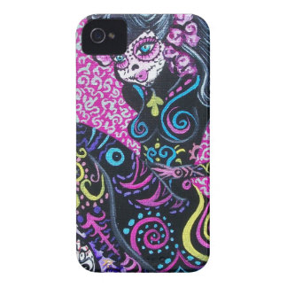 Day of the Dead Retro Mermaid iPhone 4 Case-Mate Cases
