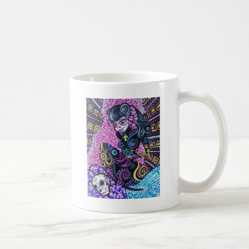 Day of the Dead Retro Mermaid Coffee Mug