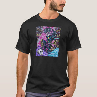 Day of the Dead Retro Mermaid T-Shirt