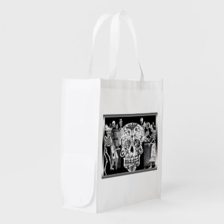 Day Of The Dead Reusable Grocery Bag