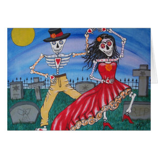 DAY OF THE DEAD Salsa Dancers Greeting Cards