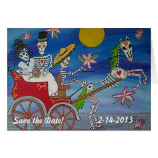 Day of the Dead Save the Date Wedding Notecard Stationery Note Card