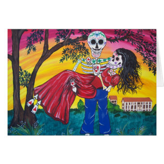 DAY OF THE DEAD Scarlett and Rhett Greeting Cards